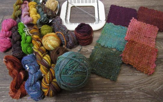 Her Handspun Habit: 5 Reasons Why Spinners Should Try Pin Loom Weaving